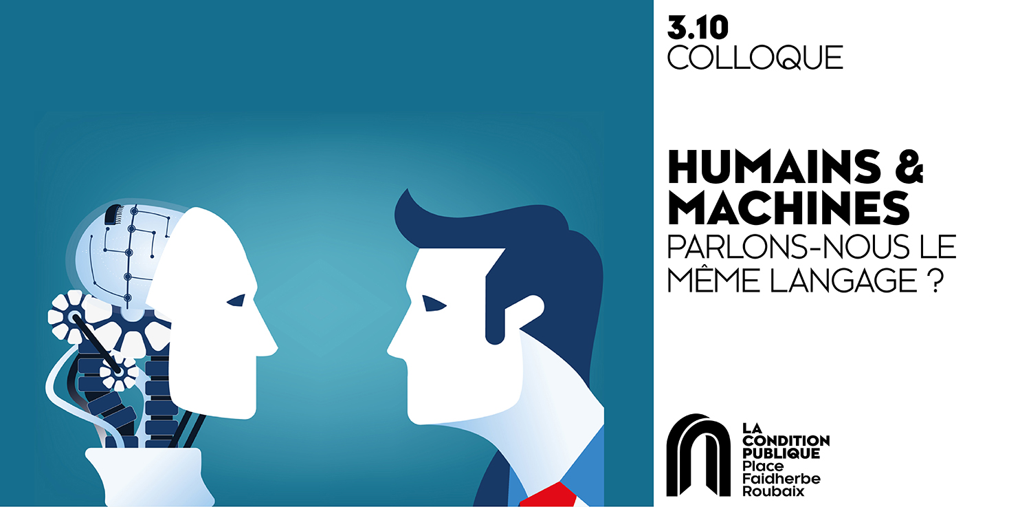 poster of the conference where a human and a robot look each other